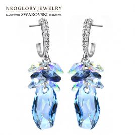 Neoglory Crystal & Rhinestone Elegant Drop Earrings