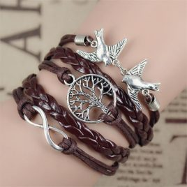 Infinity  Leather Love Handmade  Bracelet