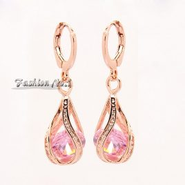 Dangle  Earrings  Diamond  Fashion  18K  Gold  Plated – 4   Colors